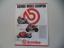 advertising Pubblicità 1990 BREMBO e DUCATI 851 SUPERBIKE/JOHN KOCINSKY/ROCHE