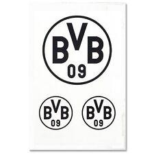 BVB Borussia Dortmund Aufkleber Logo 3er Set (Autoaufkleber / Sticker )  schwarz