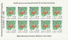 Finland 1991 MNH Sheet - Self Adhesive 10 x 2,10 mk - Trees  Flowers Rowanberry