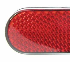 New Easy Stick On Reflectors Set (Pair) In Red For Cycling Free P&P