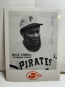 """1969 Jamesway Trucking Willie Stargell Card Pittsburgh Pirates Autograph 5"""" X 4"""""""