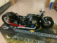 USA ARMY Racing Angelle 1:9 DieCast Suzuki NHRA Pro Stock Motorcycle Yellow