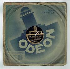 78T Fred GOUIN Disque Phonographe  LA RONDE DES HEURES Film Chanté ODEON 166421