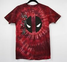 Deadpool Tie Dye T Shirt Marvel Red MEDIUM
