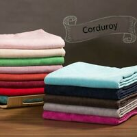 8 Wale Corduroy Thick Fabric Cloth Clothes Coat Dress Upholstery Polyester Craft