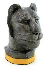 A modern Gus Roy sculpture of a lion's head. Studio pottery. Anthropomorphic