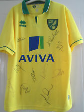 Norwich City 2012-2013 Youth Team Squad Signed Home Football Shirt /40432