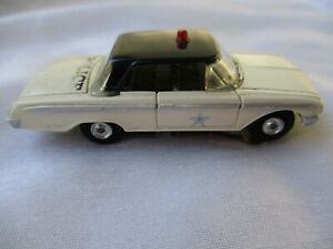 Vintage Aurora '62 Ford Police Slot Car w/ Vibrator Chassis