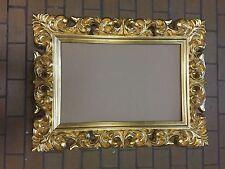 Bilderrahmen Gold xxl Barock Spiegelrahmen 120x90cm Werbetafel Gold