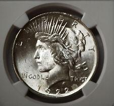 1922 Silver Peace Dollar  NGC MS 63 (2622247-016 ) Philadelphia Uncirculated