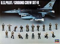 Hasegawa X48-5 U.S. PILOT / GROUND CREW SET B 1/48 scale kit