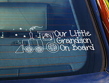 Static Cling Window Car Sign/Decal Our Little Grandson Train 100mm x 250mm 13