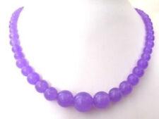 "Beads Necklace 18"" Pretty!6-14Mm Purple Jade"