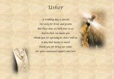 WEDDING USHER personalised poem (Laminated Gift)