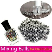 5mm Nail Art Polish Stainless Steel Mixing Agitator Balls Nails Salon Tools DIY