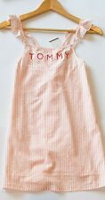 New TOMMY HILFIGER DRESS Size 10-12 KIDS, seersucker dress 100% cotton RP$109