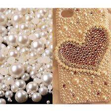 1000PCS Mix 2-10mm Ivory Half Round Flatback Pearl Bead Nail Art Phone Decor DIY
