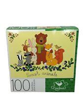 "100 Piece Jigsaw Puzzle ""FOREST ANIMALS"" Cardinal  8.75"" X 11.25"" Family Fun"