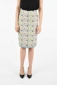 MAURIZIO PECORARO women  Multicolor Printed Pencil Skirt 40 IT Knee Length  4...