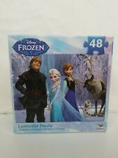 "DISNEY FROZEN LENTICULAR  PUZZLE 12"" x 9""  NEW (48-Piece)"