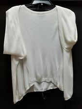 MOSSIMO XS, WHITE top thin/sweater-shirt LONGER SIDES, LONG SLEEVES - NWT~D04