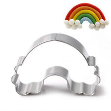 Stainless Steel Cookie Cutter Model Rainbow Cloud Cake Biscuit Fondant DIY Mold