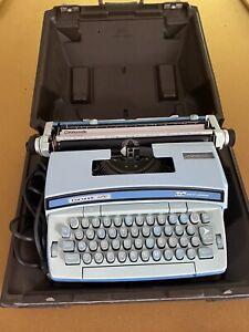 Smith Corona Electric Coronet Super 12 Baby Blue Typewriter And Storage Case VG