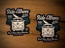 2x surf pegatinas descubrimos autobús tuning Beach Boy verano surfing hang Loose Sun #279