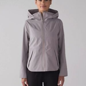 Women's Lululemon Everyday Getaway Dark Chrome Rain Jacket Size 4