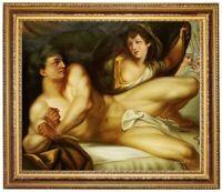 Ölbild, Akt - Erotik Männerakt John Rigaud Ölgemälde HANDGEMALT,Gemälde 50x60cm