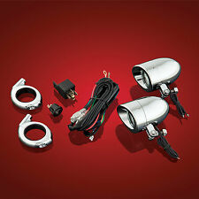 Show Chrome Accessories 55-364 Universal 50 watt Halogen Light Kit with clamps