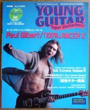 100% RACER X JAPAN YOUNG GUITAR MAG SCORE TAB PAUL GILBERT w/DVD