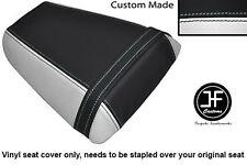 Vinilo Blanco y Negro Personalizado se ajusta a Honda CBR 600 F 01-03 Trasero Cubierta de asiento solamente