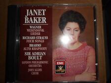 Janet baker: Wagner wesendonk lieder, Strauss 4 songs, Brahms alto rhapsody  EMI