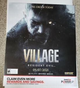 RESIDENT EVIL VILLAGE POSTER GAME STOP