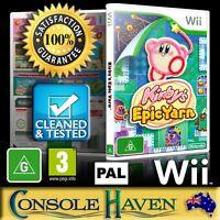 (Wii Game) Kirby's Epic Yarn (G) (Platformer) PAL, Guaranteed, Cleaned