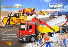 BRUDER Prospekt Katalog 2014 NEU advertising brochure prospectus catalogue NEW