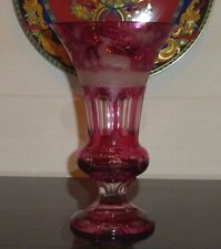 MUSEUM QUALITY RUBY RED BOHEMIAN MOSER CRYSTAL GLASS VASE