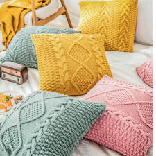 45cm Knitted Pillow Case Home Sofa Bed Fashion Decor Throw Cushion Waist Covers
