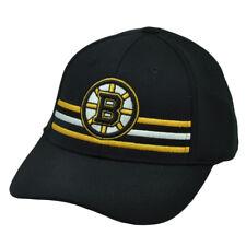 NHL American Needle Boston Bruins Flex Fit Large Stretch Hat Cap Sports Black
