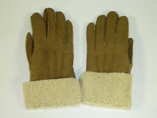 $228 COACH 100 % Lamb Shearling Leather GLOVES sz 6.5 Hazel NEW Genuine 82840