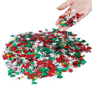 Merry Christmas Confetti Decoration Christmas Tree Paper Sequin Balloon Fill