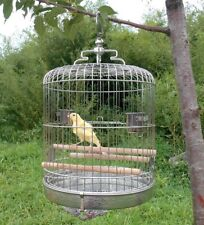 Stainless Steel Bird Cage Parrot Travel Carrier Perch