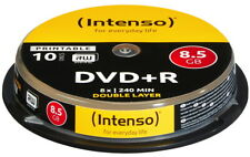 10 Intenso Rohlinge DVD+R Double Layer full printable 8,5GB 8x Spindel