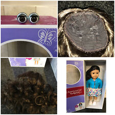 American Girl Truly Me #69 eyes and wig replacement/customize Brand New