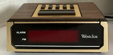 Westclox Alarm Clock With 9 Minute Snooze Button Small Vintage 90's Working