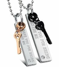 Partner Necklace Key Thank You Stainless Steel 2 Trailer + 2 Ball NEW