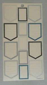 Happy Planner INDIGO Boxes Home Plate Shape stickers MAMBI 261919