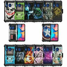 For Samsung Galaxy A20 / A30 / A50 Triple Layer Holster Case Cool Designs