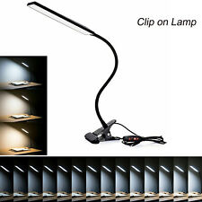 LED Clip-On Desk Table Touch Sensor Rechargeable Dimmable...